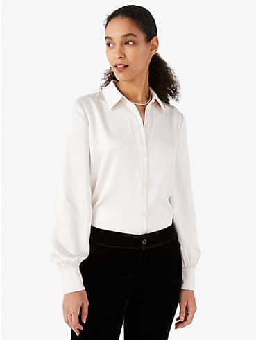 satin pastis blouse, , rr_productgrid