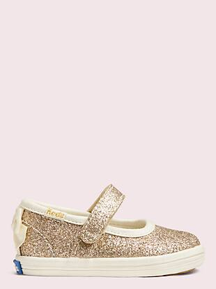 keds x kate spade new york sloan mary jane crib sneakers by kate spade new york hover view