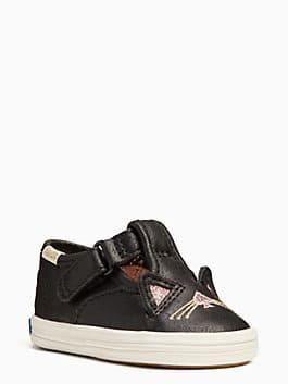keds x kate spade new york hayden cat t-strap sneakers, black, medium