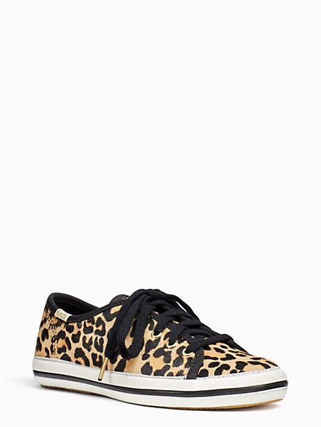 keds kids x kate spade new york kickstart leopard-print youth sneakers, leopard, large by kate spade new york