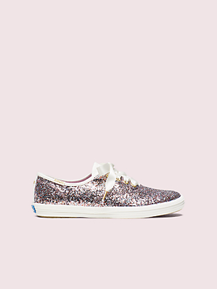 keds kids x kate spade new york champion glitter youth sneakers  by kate spade new york hover view