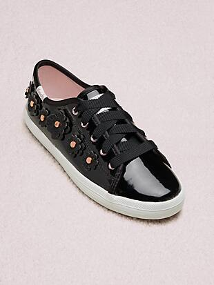 keds kids x kate spade new york kickstart floral patent leather youth sneakers by kate spade new york hover view