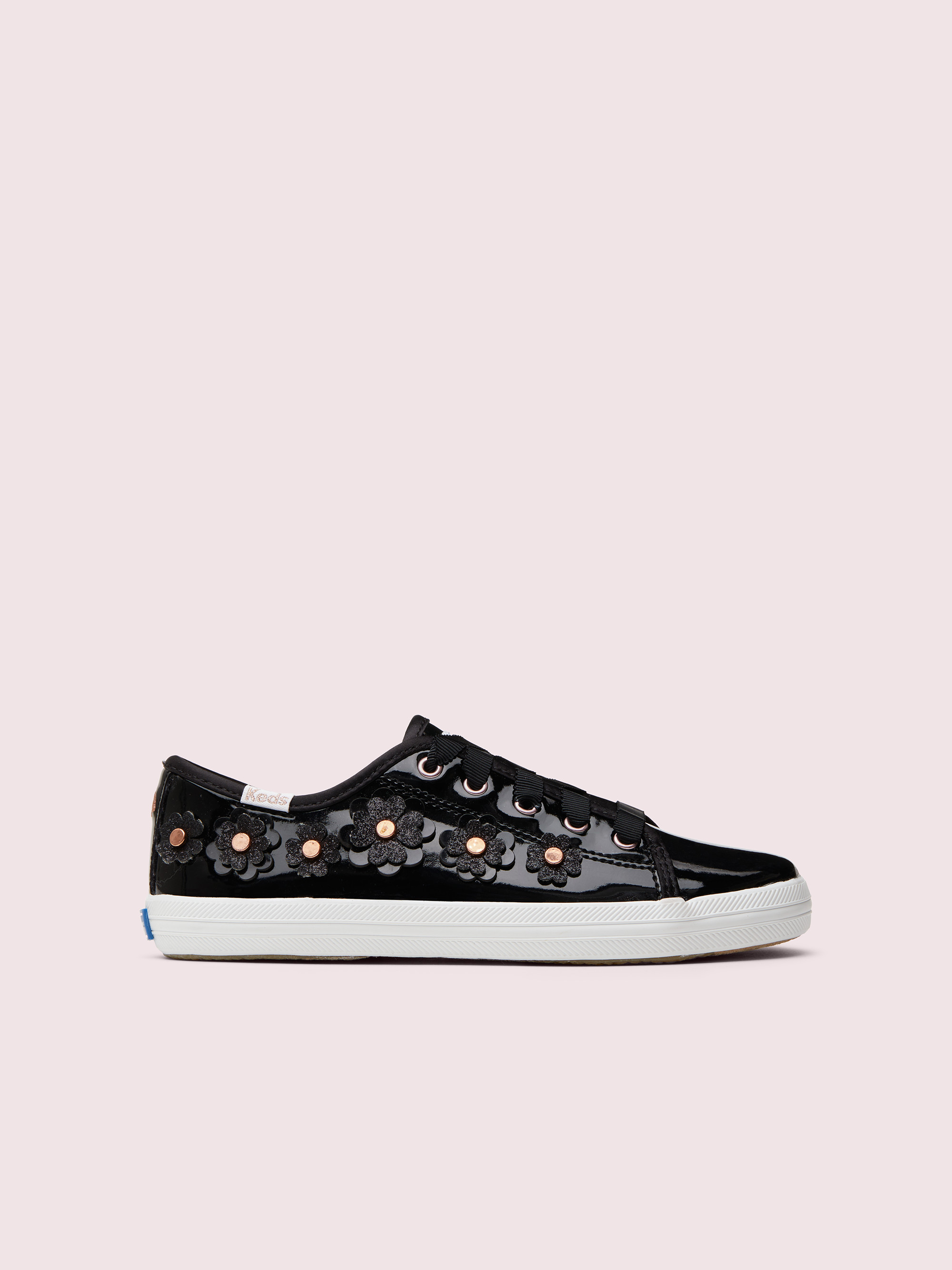 keds kids x kate spade new york kickstart floral patent leather youth sneakers