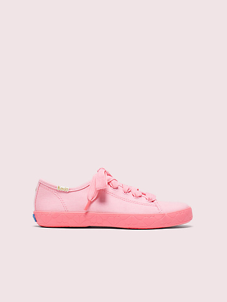 keds kids x kate spade new york kickstart youth sneakers, pink, large by kate spade new york