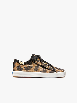 keds kids x kate spade new york kickstart glitter leopard toddler sneakers by kate spade new york hover view