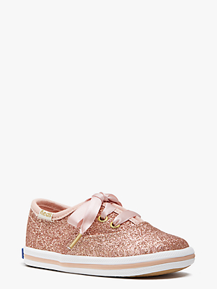 keds kids x kate spade new york champion glitter crib sneakers  by kate spade new york hover view