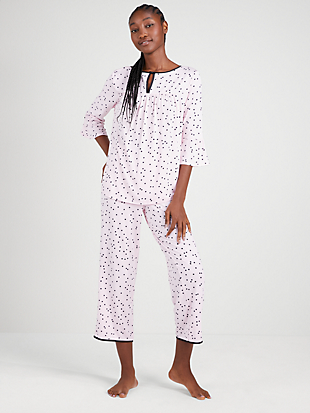 pink dot long pj set by kate spade new york non-hover view