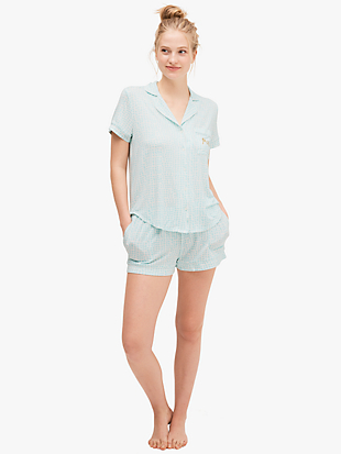"tulip chain ""mrs"" short pj set by kate spade new york hover view"