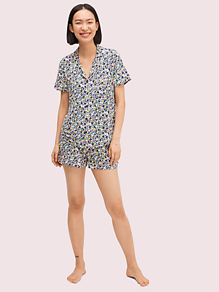 watercolor rose short pj set by kate spade new york non-hover view