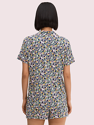 watercolor rose short pj set by kate spade new york hover view
