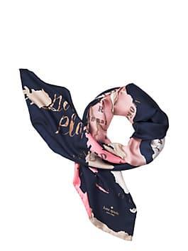 going places square scarf, navy multi, medium