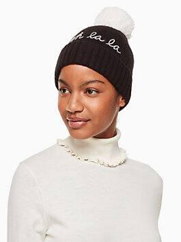 ooh la la beanie, black/ cream, medium