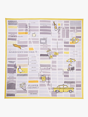 taxi square scarf by kate spade new york hover view