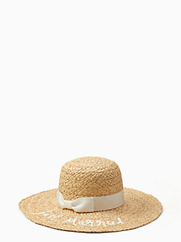 just married sunhat, natural, medium