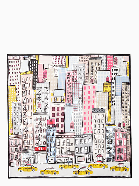 cityscape silk scarf by kate spade new york