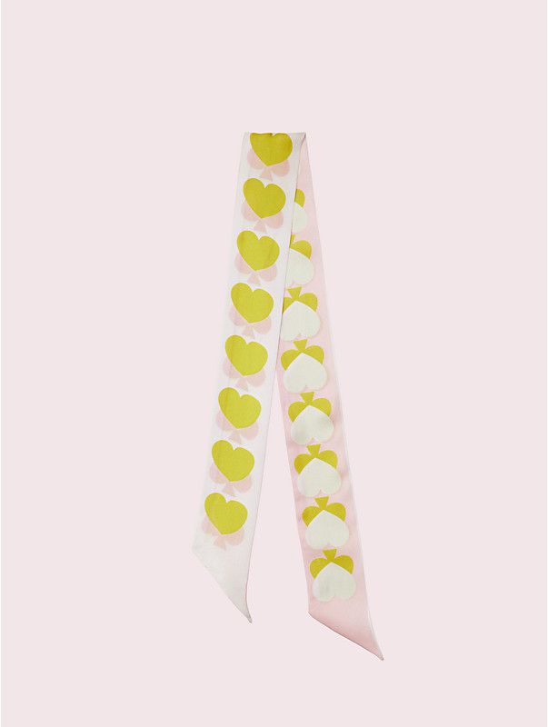 spade hearts skinny scarf, , rr_large