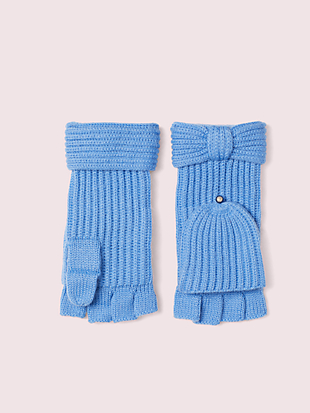 bow pop top gloves by kate spade new york hover view