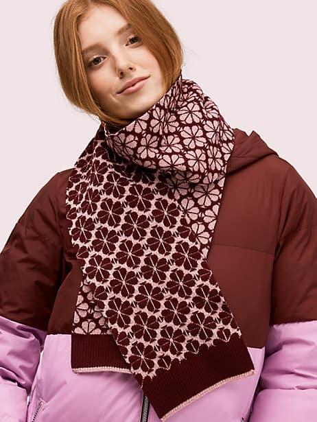 flower spade knit scarf by kate spade new york