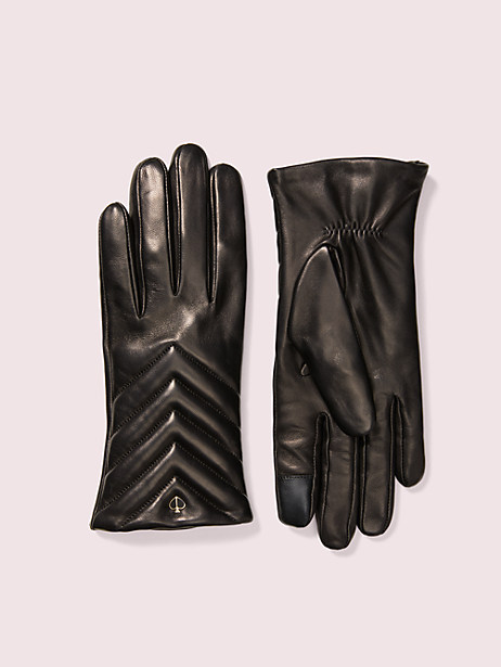 quilted leather tech gloves by kate spade new york