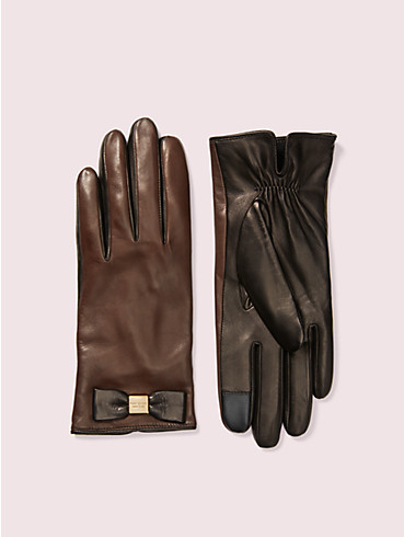 leather bow gloves, , rr_productgrid
