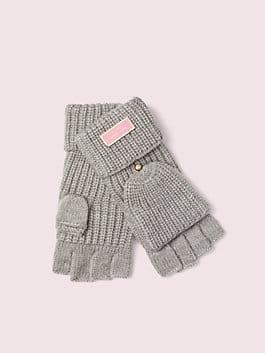 label pop top gloves, heather grey, medium