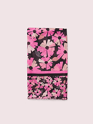 floral oblong scarf by kate spade new york hover view