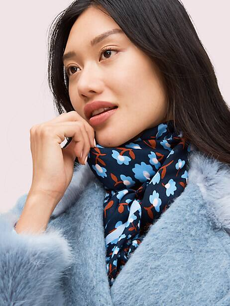 party floral oblong scarf by kate spade new york