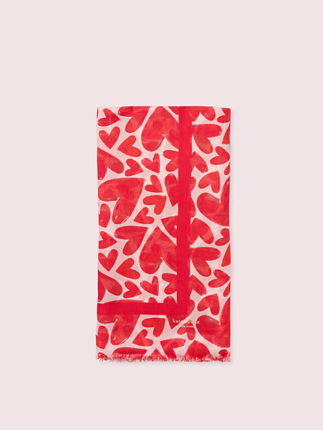 Painterly hearts oblong scarf | Kate Spade New York