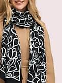 scribble flora oblong scarf, , s7productThumbnail