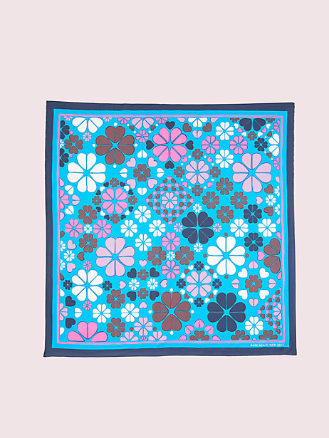 spade clover patchwork square scarf by kate spade new york