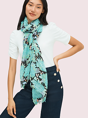 dahlia bloom oblong scarf by kate spade new york non-hover view