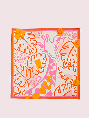 giraffe silk square scarf, , rr_productgrid