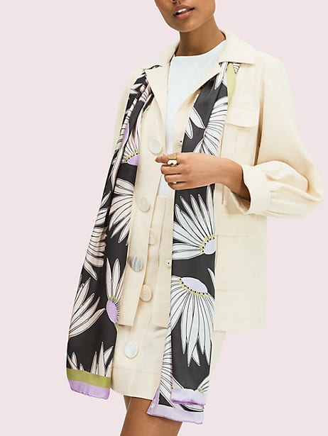 falling flower oblong scarf  by kate spade new york