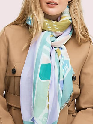 central park map oblong scarf by kate spade new york non-hover view
