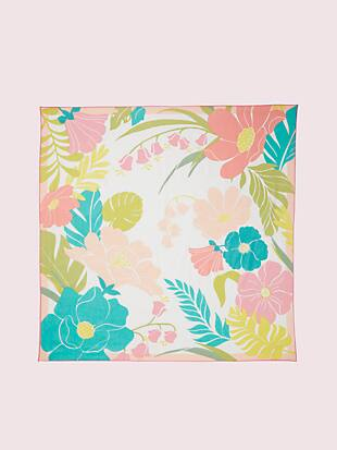 tropical floral square scarf by kate spade new york hover view