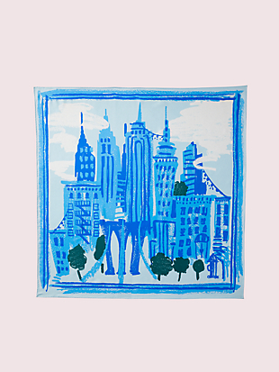 nyc square scarf by kate spade new york hover view