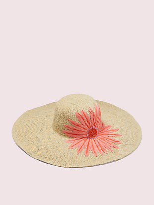 embroidered daisy sunhat by kate spade new york hover view