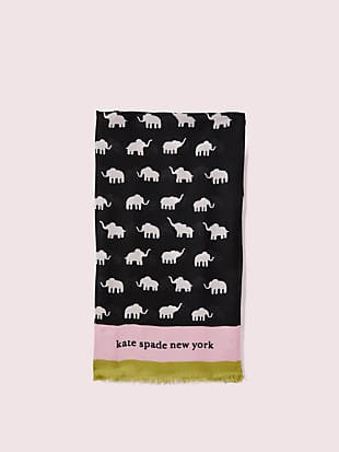 elephant oblong scarf by kate spade new york hover view