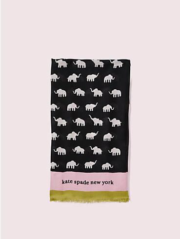 rechteckiger Schal mit Elefantenmotiv, , rr_productgrid
