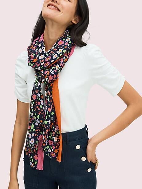 wild garden oblong scarf by kate spade new york