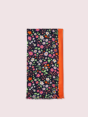 wild garden oblong scarf by kate spade new york hover view