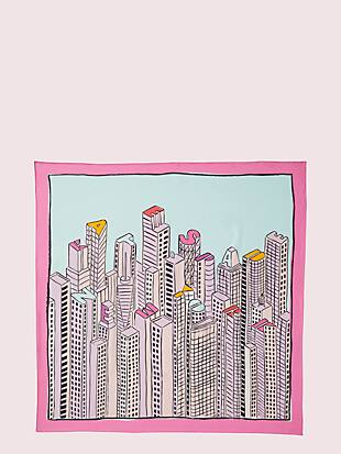 kate cityscape silk scarf by kate spade new york hover view