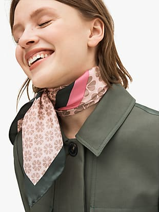 spade stripe square scarf by kate spade new york hover view