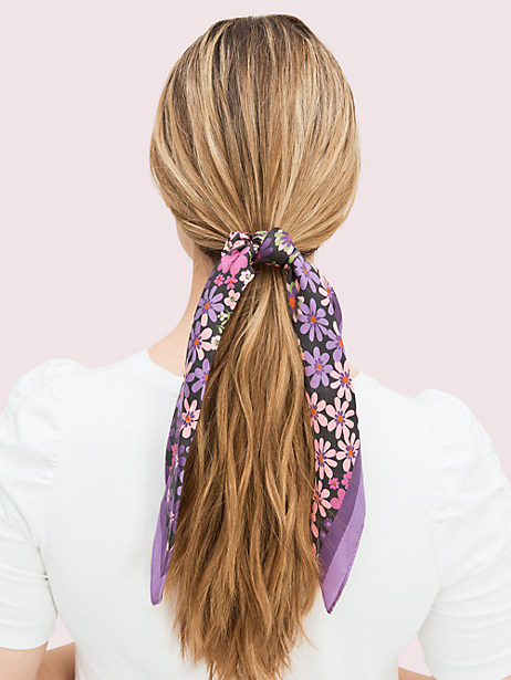 pacific petals hair tie and bandana set by kate spade new york