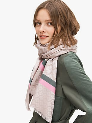 spade flower yarn-dyed scarf by kate spade new york hover view