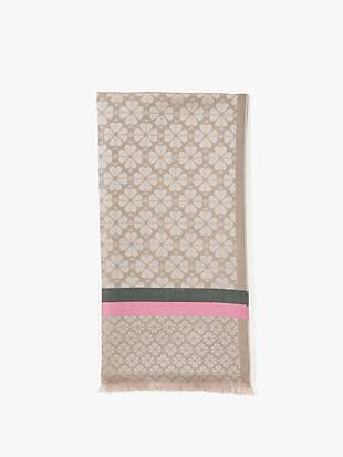 spade stripe yarn-dyed scarf by kate spade new york non-hover view