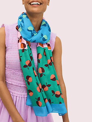 colorblock apples oblong scarf by kate spade new york non-hover view