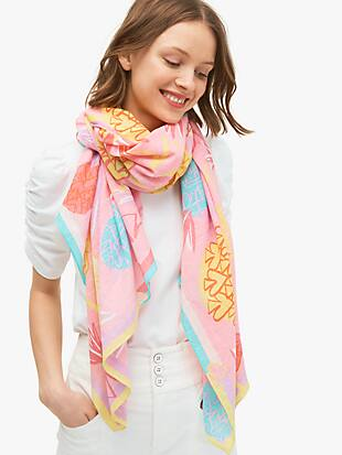 pineapple spade oblong scarf by kate spade new york non-hover view