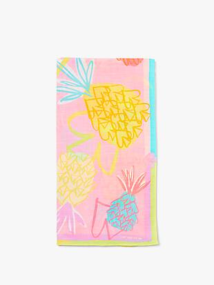 pineapple spade oblong scarf by kate spade new york hover view