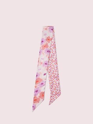 poppy field silk skinny scarf by kate spade new york non-hover view